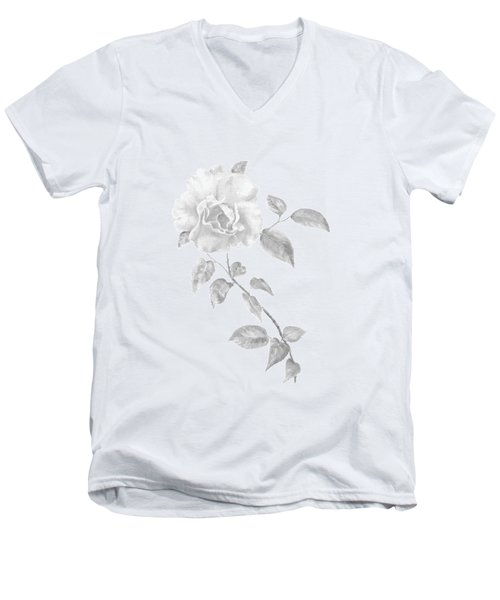 Climbing Rose II Men's V-Neck T-Shirt