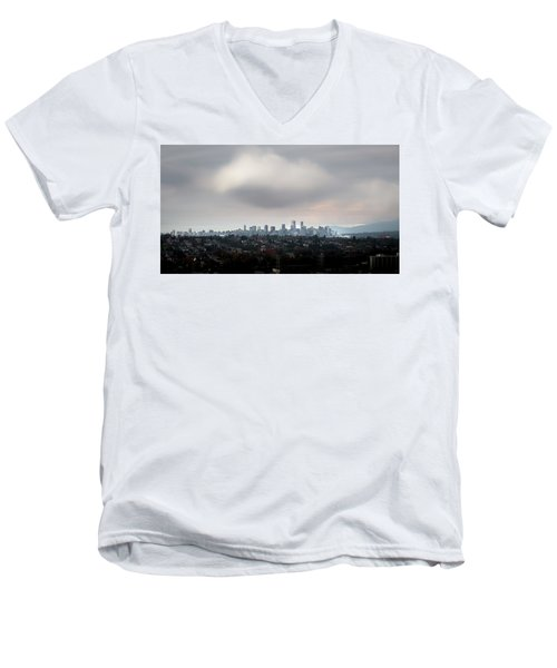 Cloud On Vancouver  Men's V-Neck T-Shirt