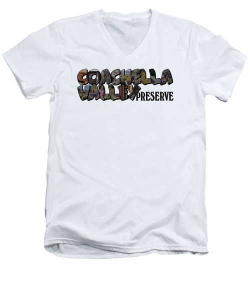 Coachella Valley Preserve Big Letter Men's V-Neck T-Shirt