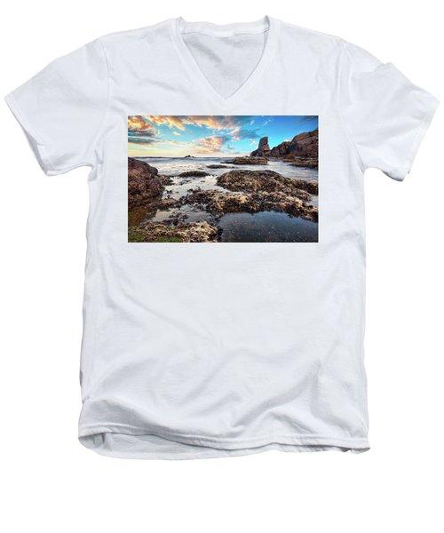 Coast At Sozopol, Bulgaria Men's V-Neck T-Shirt