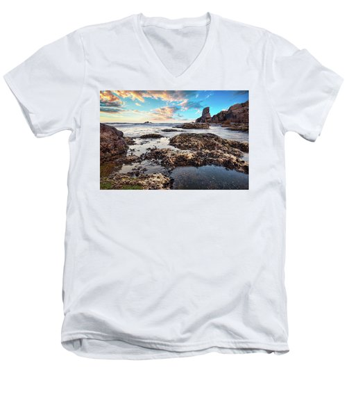 Coast At Sozopol, Bulgaria Men's V-Neck T-Shirt