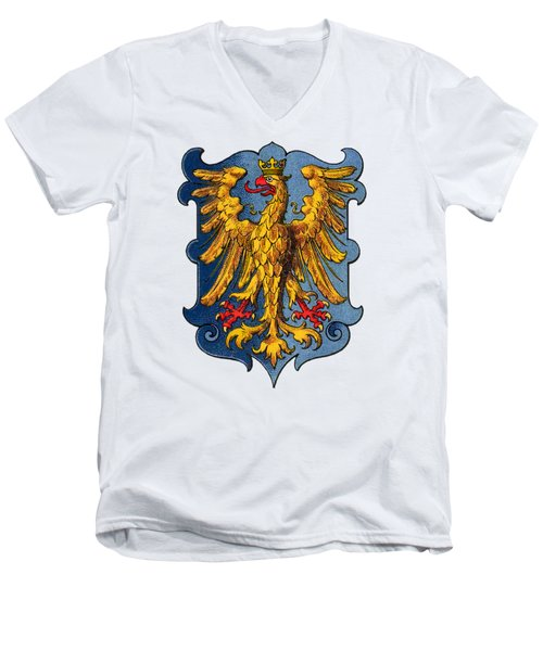 Coat Of Arms Of The Duchy Of Friuli Men's V-Neck T-Shirt