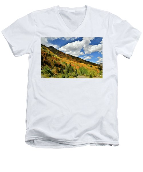 Color In The Spotlight At Red Mountain Pass Men's V-Neck T-Shirt