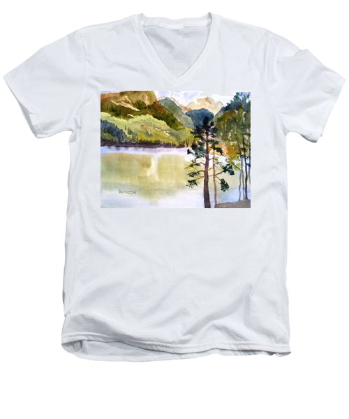 Como Lake Men's V-Neck T-Shirt