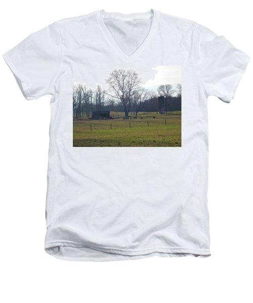 Country Pasture Men's V-Neck T-Shirt