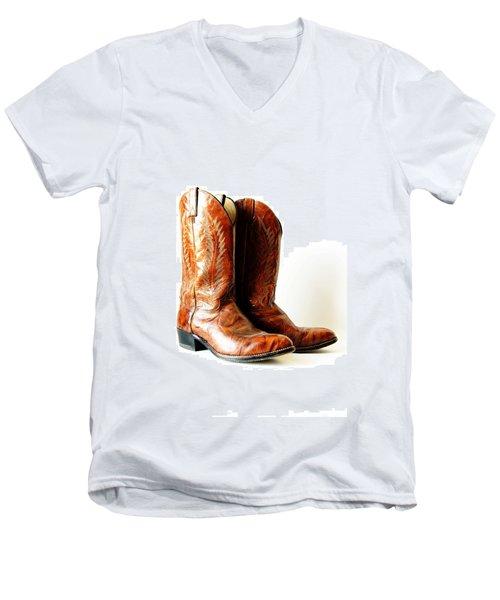 Cowboy Boots Men's V-Neck T-Shirt