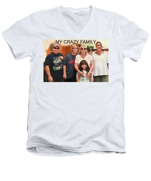 Crazy Family Men's V-Neck T-Shirt