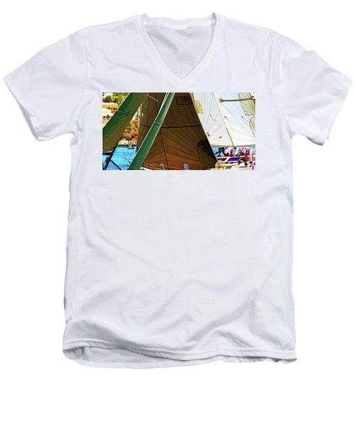 Crossing Sails Men's V-Neck T-Shirt