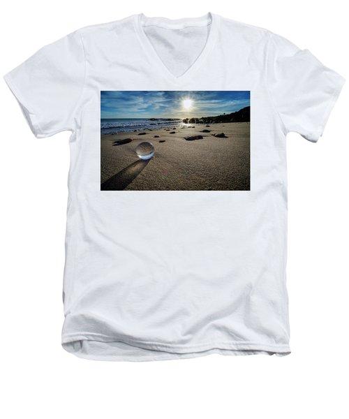 Crystal Ball Sunset Men's V-Neck T-Shirt