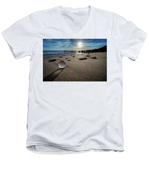 Crystal Ball Sunset Men's V-Neck T-Shirt