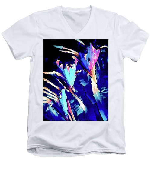 Crystal C Abstract Men's V-Neck T-Shirt