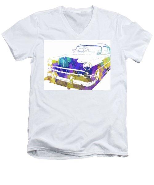Custom 1954 Chevy Abs Inv Men's V-Neck T-Shirt