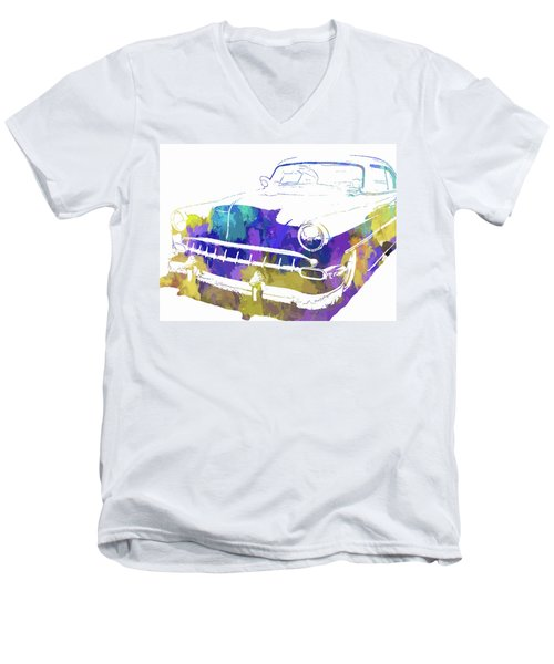 Custom 1954 Chevy Abs Inv Men's V-Neck T-Shirt