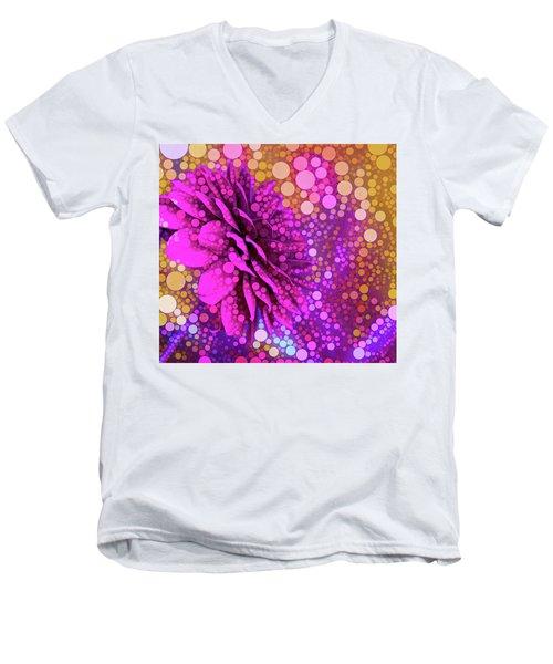 Dahlia Dots Men's V-Neck T-Shirt