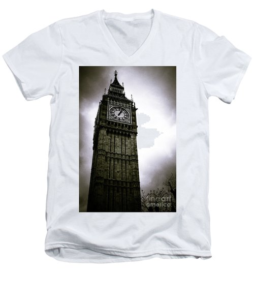 Dark Big Ben Men's V-Neck T-Shirt