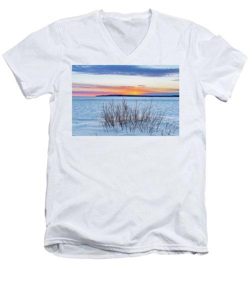 Daybreak Over East Bay Men's V-Neck T-Shirt