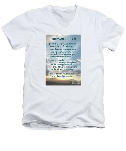 Do Not Stand At My Grave And Weep Men's V-Neck T-Shirt