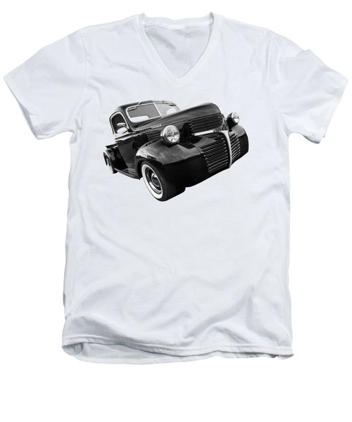 Dodge Truck 1947 Side View Men's V-Neck T-Shirt