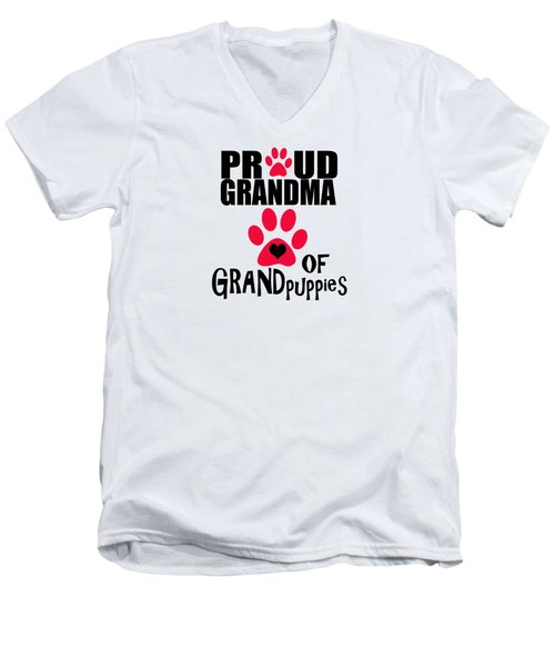 Dog Gifts And Ideas Proud Grandma Of Grandpuppies Men's V-Neck T-Shirt
