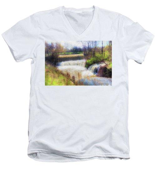 Double Falls Men's V-Neck T-Shirt