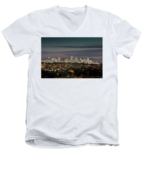 Downtown Dusk Men's V-Neck T-Shirt
