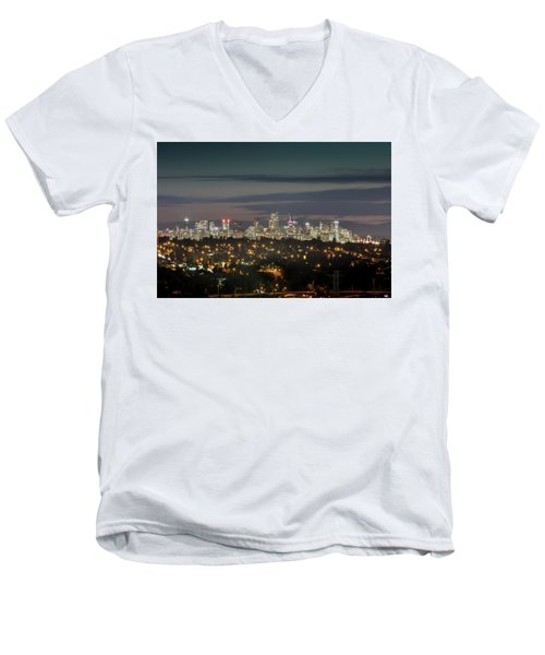 Downtown Dusk Men's V-Neck T-Shirt