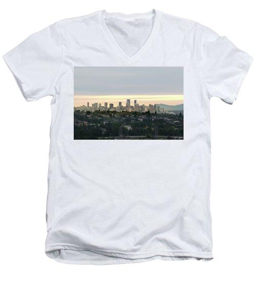 Downtown Sunset Men's V-Neck T-Shirt