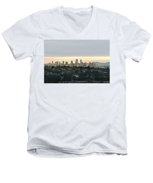 Downtown Sunset Men's V-Neck T-Shirt