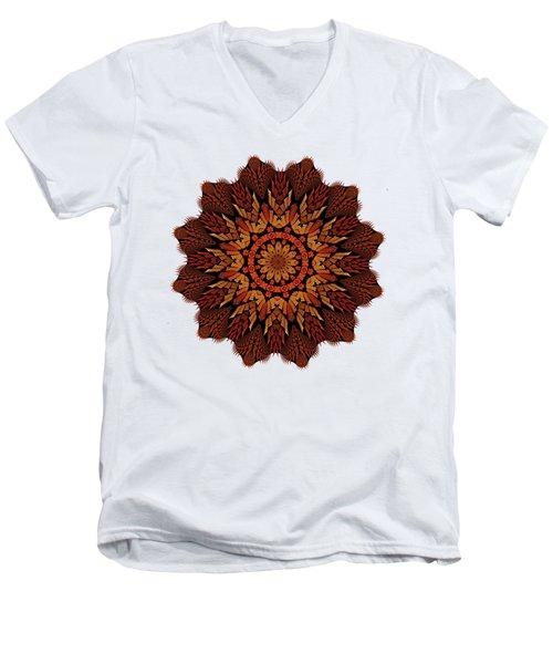 Dragon Clock Medallion For Apparel Men's V-Neck T-Shirt
