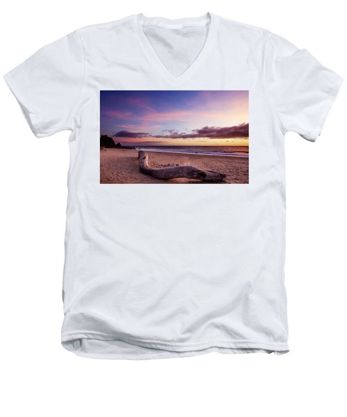 Driftwood At Sunset Men's V-Neck T-Shirt