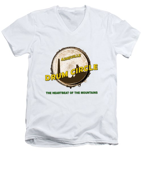 Drum Circle Logo Men's V-Neck T-Shirt