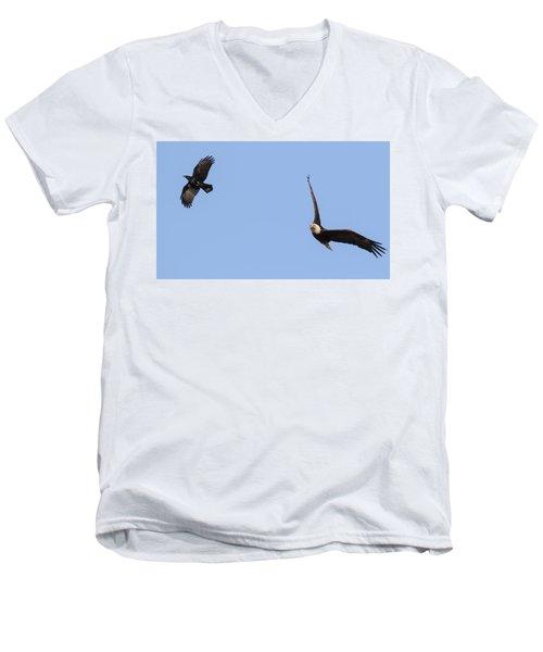 Eagle And Crow  Men's V-Neck T-Shirt