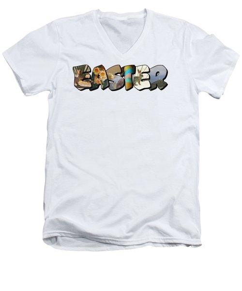 Easter Big Letter Men's V-Neck T-Shirt