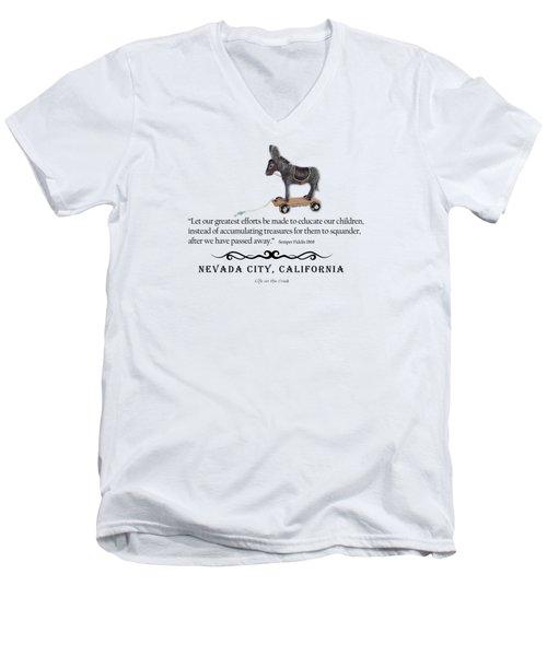 Educational Treasure Men's V-Neck T-Shirt
