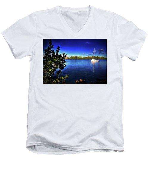 Elixir Sailboat Men's V-Neck T-Shirt