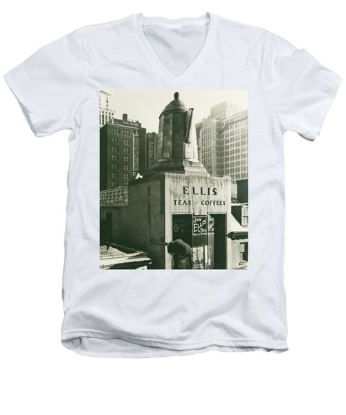 Ellis Tea And Coffee Store, 1945 Men's V-Neck T-Shirt