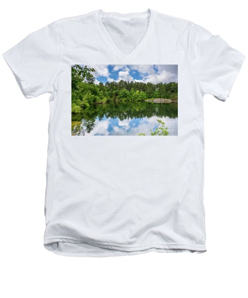 Euchee Creek Park - Grovetown Trails Near Augusta Ga 1 Men's V-Neck T-Shirt