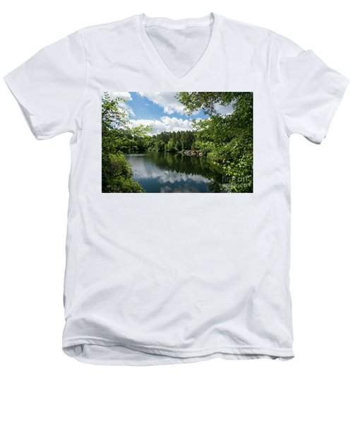 Euchee Creek Park - Grovetown Trails Near Augusta Ga 2 Men's V-Neck T-Shirt