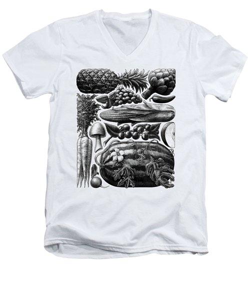 Farmer's Market - Bw Men's V-Neck T-Shirt