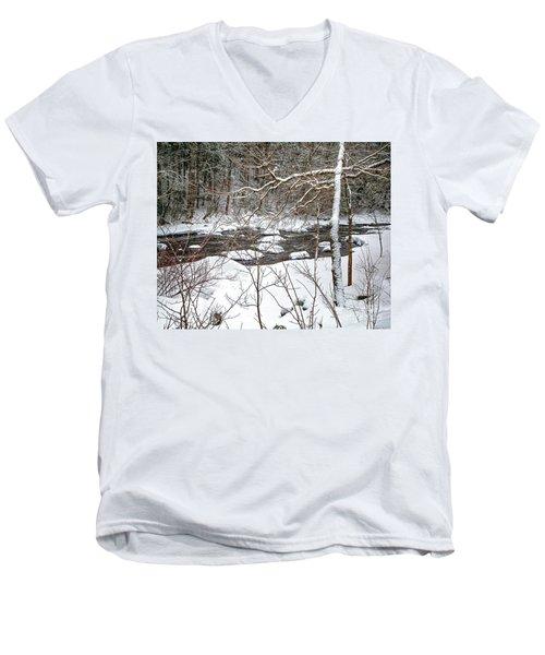 Farmington River - Northern Section Men's V-Neck T-Shirt