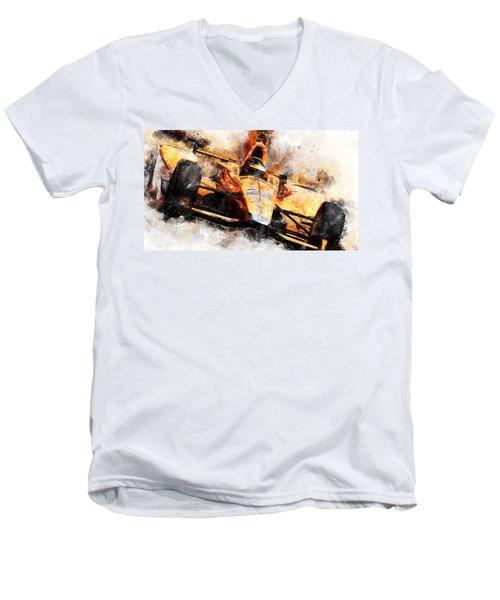 Fernando Alonso, Indy 500 - 04 Men's V-Neck T-Shirt