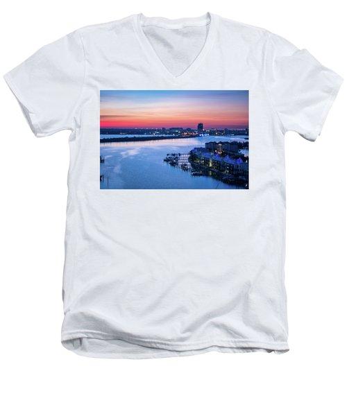 Firstlight Over Clearwater Men's V-Neck T-Shirt