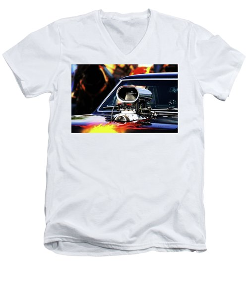 Flames To Go Men's V-Neck T-Shirt