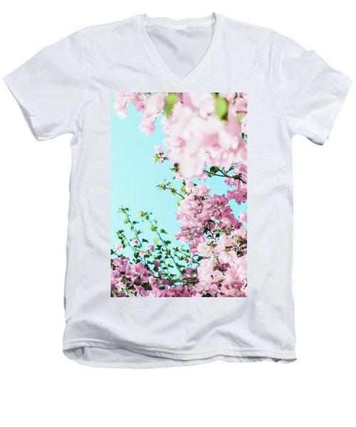 Floral Dreams I Men's V-Neck T-Shirt