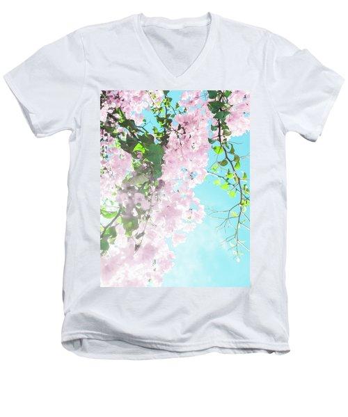 Floral Dreams IIi Men's V-Neck T-Shirt