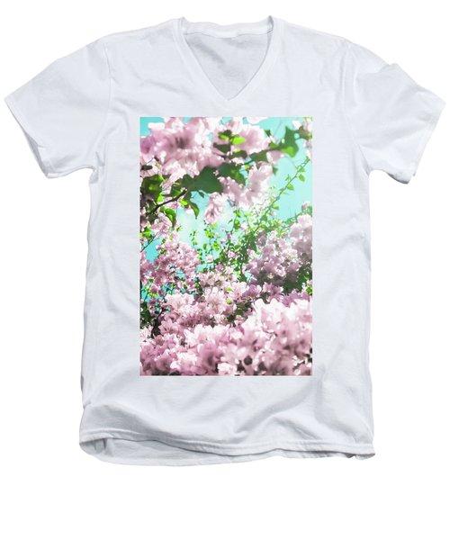Floral Dreams Iv Men's V-Neck T-Shirt