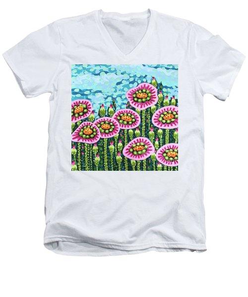 Floral Whimsy 8 Men's V-Neck T-Shirt
