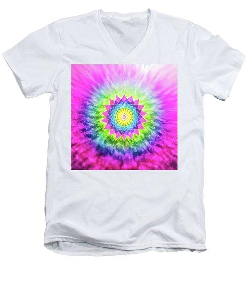 Flowering Mandala Men's V-Neck T-Shirt
