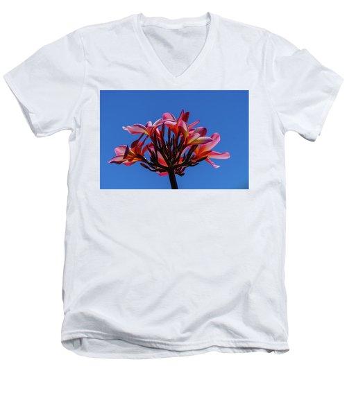 Flowers In Clear Blue Sky Men's V-Neck T-Shirt