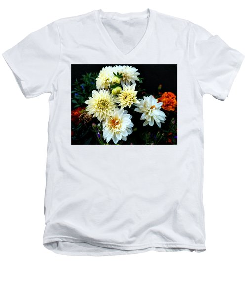Flowers In The Garden Men's V-Neck T-Shirt